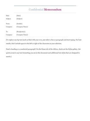 Template For A Memo Memos Officecom, Free Memorandum Template - sample confidential memo