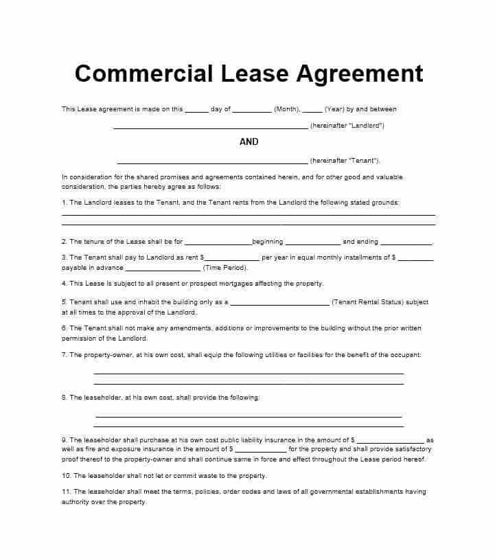 Template For A Lease Agreement Rental Property Lease Agreement - sample owner operator lease agreement