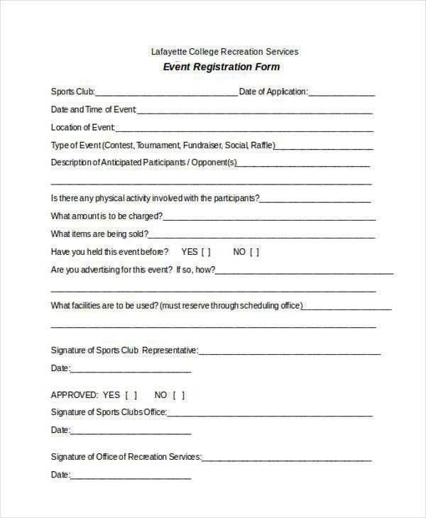 free registration form template word | node2002-cvresume ...