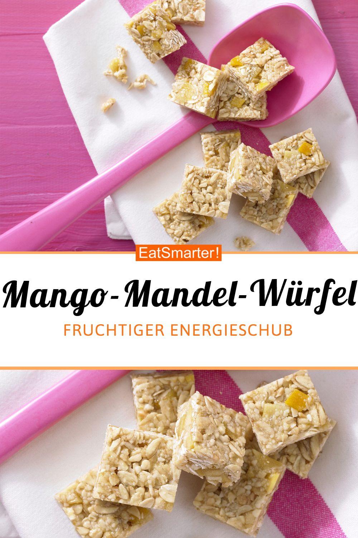 Mango-Mandel-Würfel - mit Sesam - smarter - Kalorien: 68 kcal - Zeit: 20 Min. | eatsmarter.de #kalorienarm #rezeptidee #mango #mandeln #snack