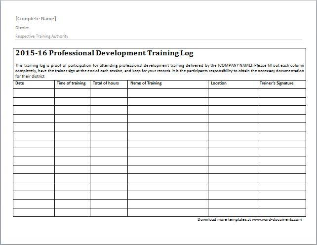 Training Documentation Template Word Choice Image - Template Design ...