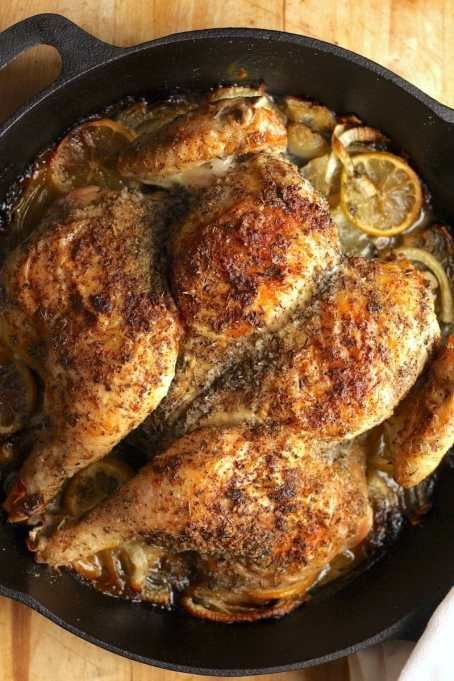 Ina Garten Recipes That'll Impress Your Dinner Guests: Skillet roasted lemon chicken #inagartenrecipes #dinnerrecipes #inagartendishes