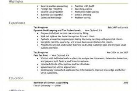 tax preparer resume certified tax preparer resume samples