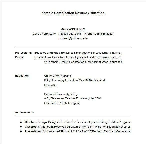 Free Combination Resume Templates Free Resume Templates - sample combination resume template