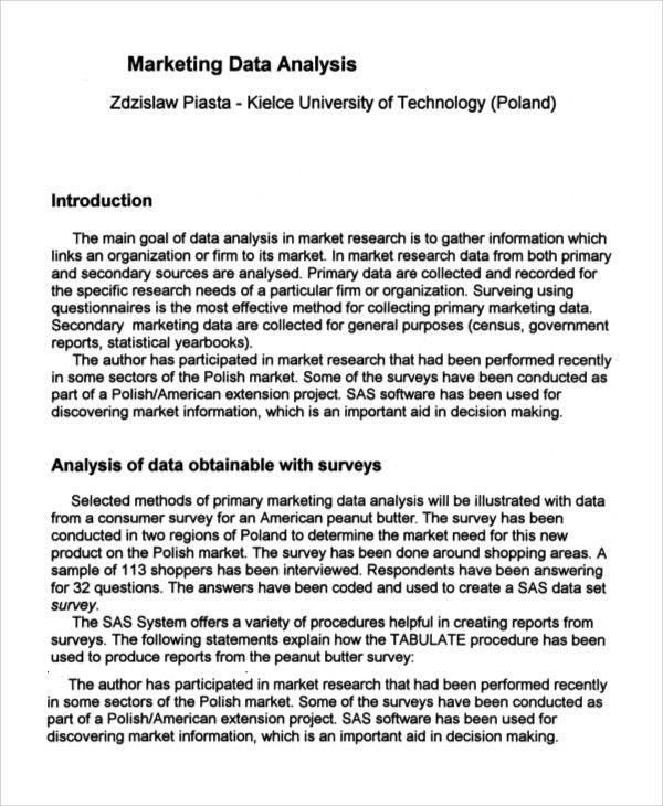 Market Analysis Report Template  NodeResumeTemplate