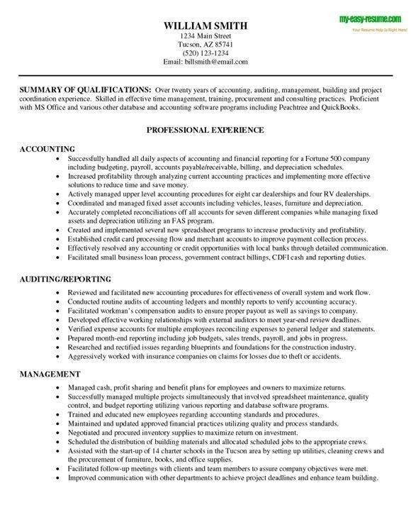Accounting Resume Objective Statement Resume Objective Statement - best resume objective statements