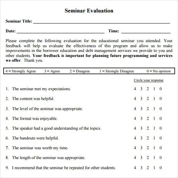 Meeting Feedback Form Template Sample Conference Feedback Forms 9 - sample workshop evaluation form example