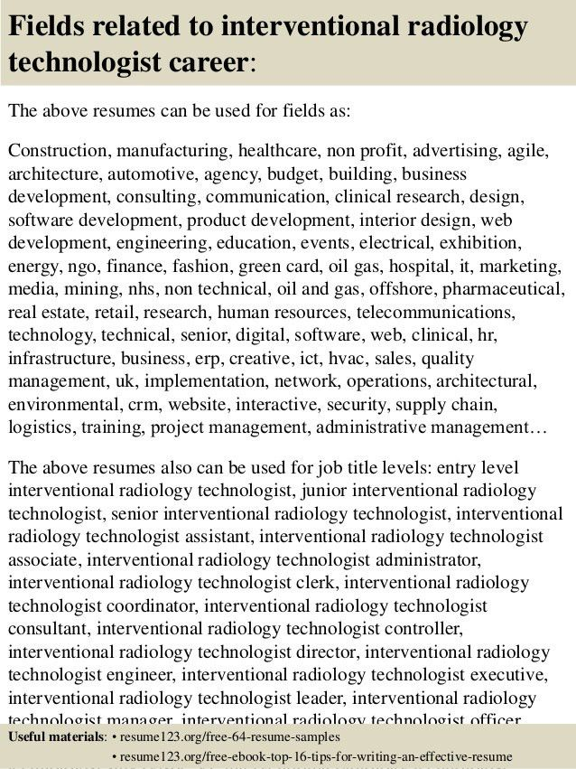 Radiologic Technologist Resume Sample Resume Example For A