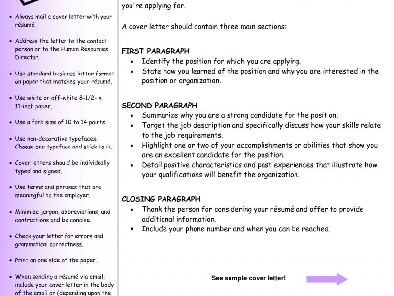 Cover Letter Guide Cover Letter Guide Jvwithmenowcom, Davidson - what should a cover letter contain