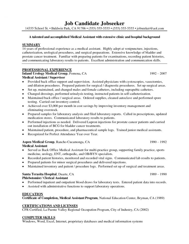Resume Objective Examples For Medical Assistant Choose - skills for medical resume