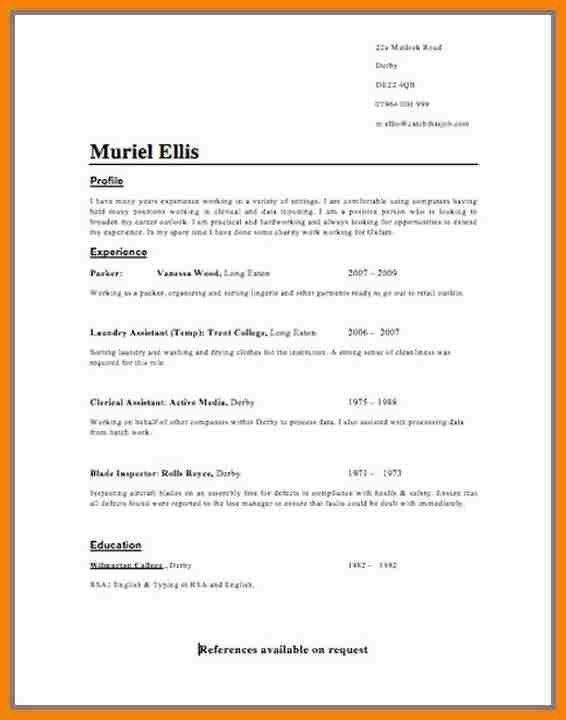 Resume Format Uk Curriculum Vitae Format For Uk Curriculum Vitae