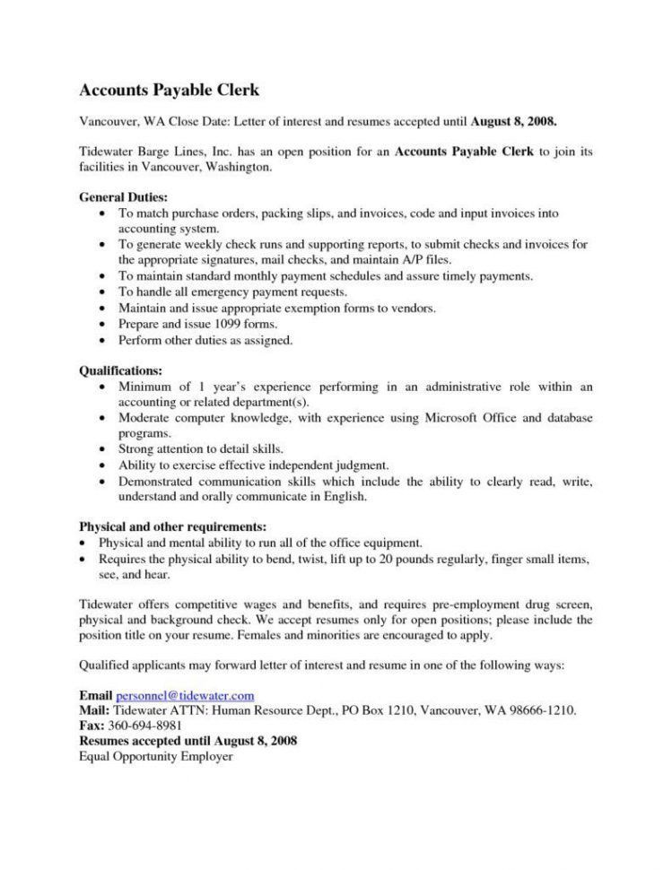 resume examples for accountants