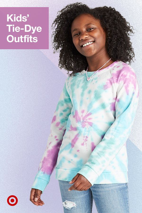 Tie-dye's a cute vibe for the kids too! Add splashes of color with outfits for boys & girls.