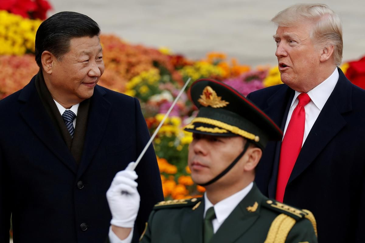 """U.S. President Donald Trump on Tuesday called the trade war with China """"a l…"""
