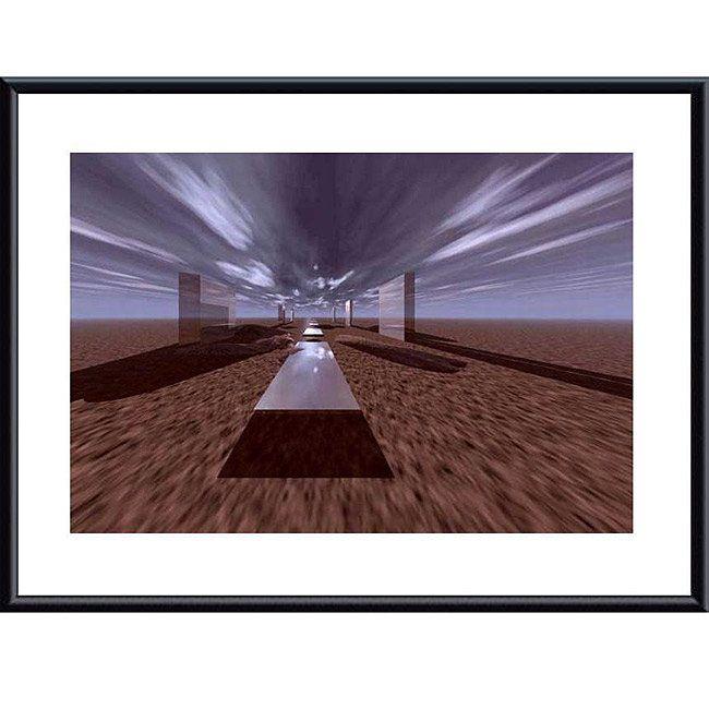 Saved by's Pinterest #henge Image created at 246923992056955480 - John K. Nakata 'Space Henge' Metal Framed Print Art