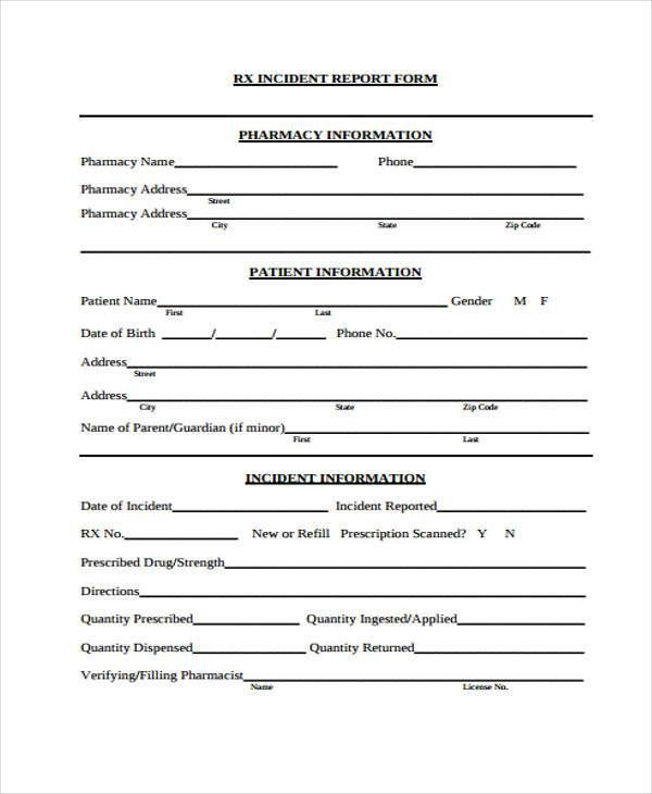 ... Patient Incident Report Form Sample Incident Report Form   Free Incident  Report Form Template Word ...  Medical Incident Report Template