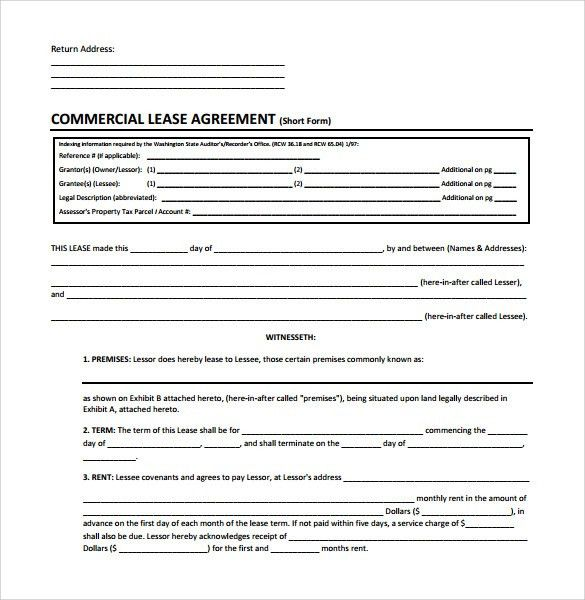 Commercial Rental Agreement Format 13 Commercial Lease Agreement - sample commercial lease agreement template