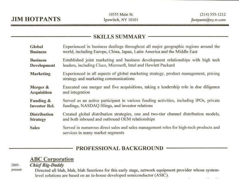 Skills Section Of Resume Example How To Write A Resume Skills - resume skills section