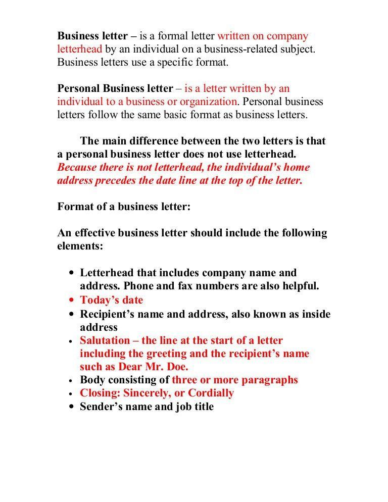 Opening A Business Letter Opening A Business Letter The Letter - business letter salutation