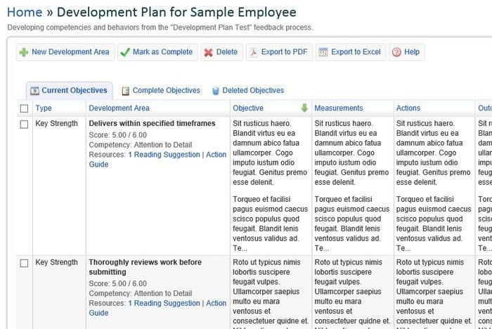 Sample Employee Development Plan Examples Employee Development - development plan templates