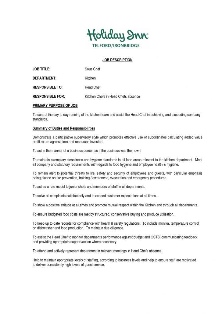 Kitchen Manager Job Description Kitchen Manager Resume Example - assistant manager job description