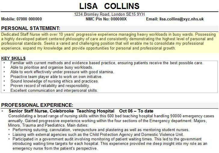 Resume Personal Statement Example - Examples of Resumes - examples of personal statements