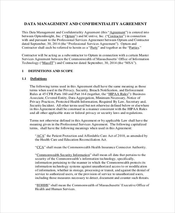 Confidentiality agreements a basis for partnerships - contractor confidentiality agreement