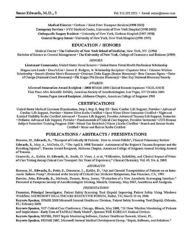 Clinical Resume Examples - Examples of Resumes