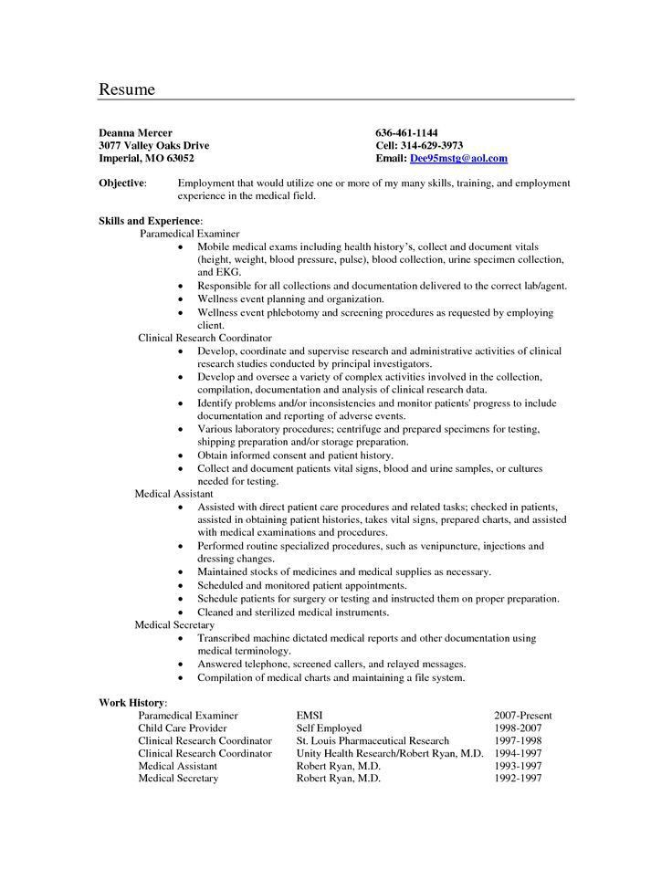 resume objective for medical field tutornowinfo - resume objective for medical field