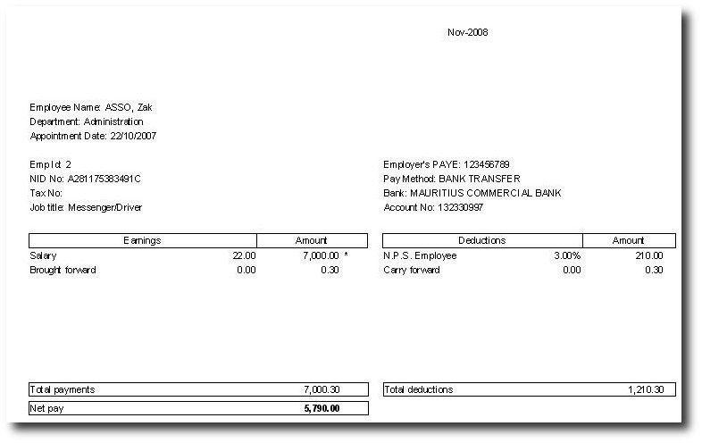 payslip sample word format   node2002-cvresume.paasprovider.com