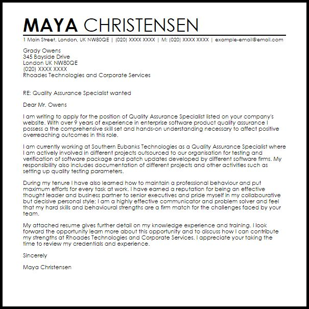 Great Diversity Specialist Cover Letter
