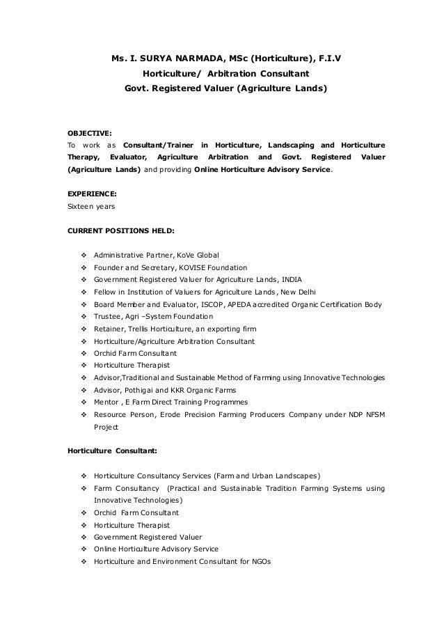 horticulturist sample resume horticulture resume example