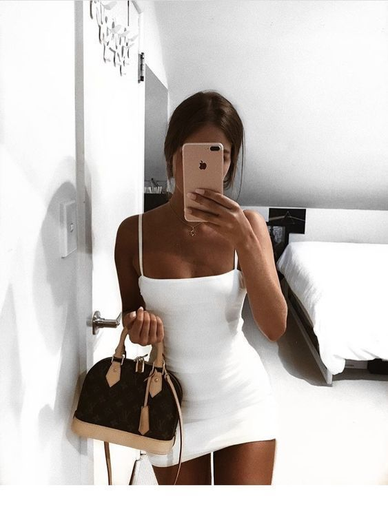 Cute short white dress