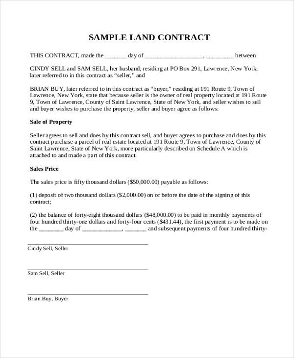 ... Sales Contract Sample Amendment To Sales Contract Template Sample    Deed Of Trust Form ...