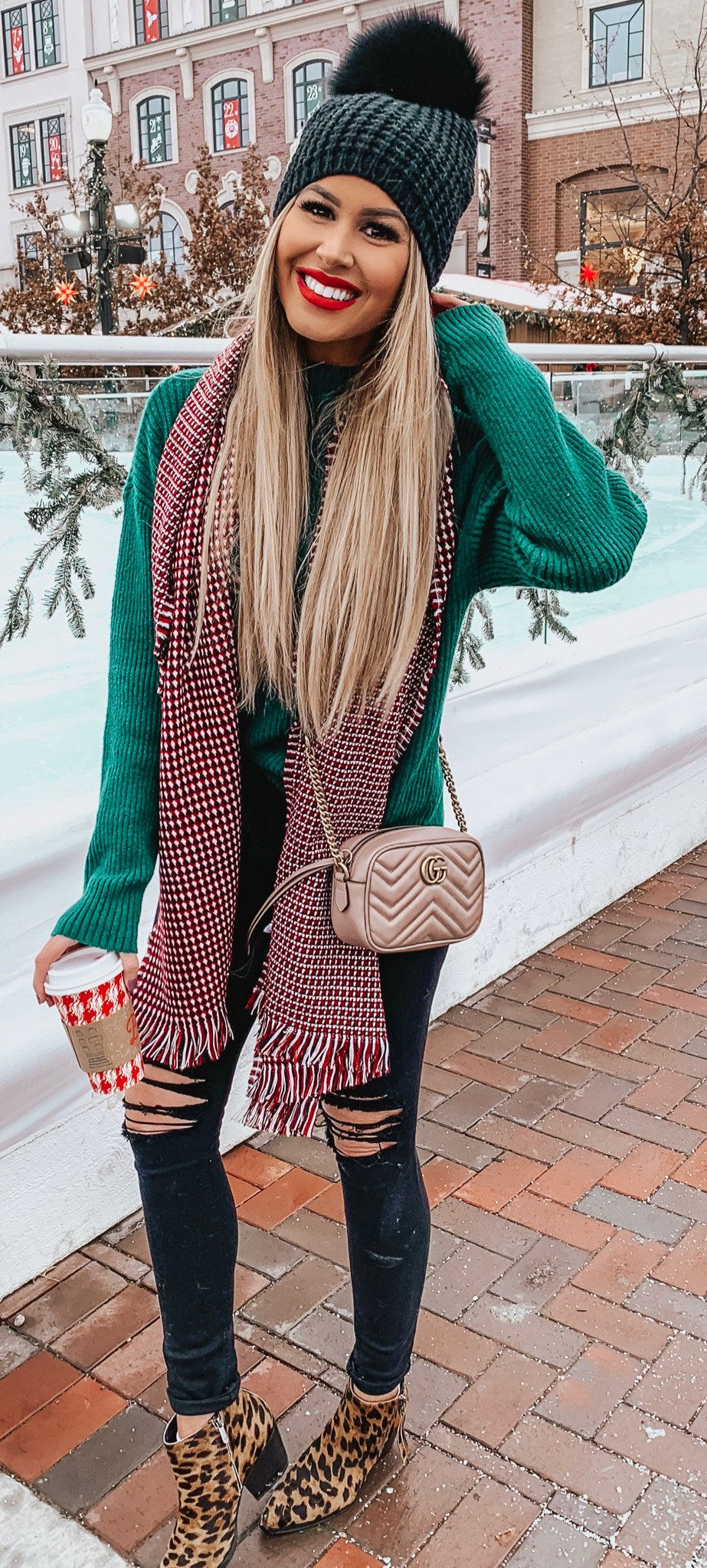 maroon and grey scarf