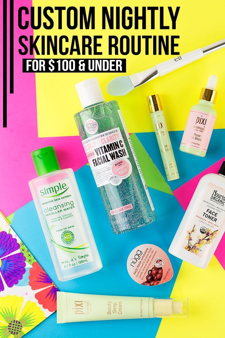 Bookmark this! This blogger has created a fully customized nighttime skincare routine for under $100!!