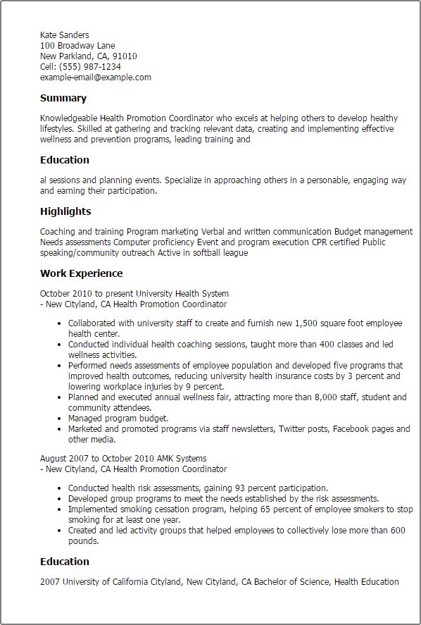 Sample Special Events Coordinator Resume Executive Summary Event - outreach coordinator resume