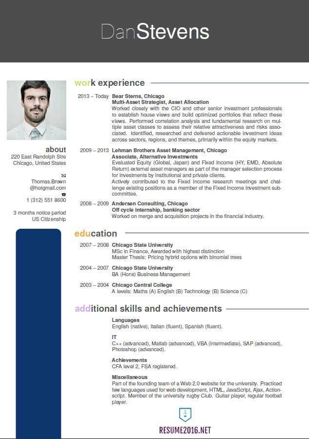 Recent Resume Format