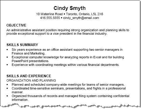Resume Examples For Skills Some Example Of Resume Resume Skills - skill for resume examples