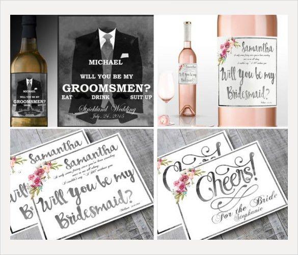 Wine Bottle Label Template Word Custom Design Wine Label Template - free wine bottle label templates