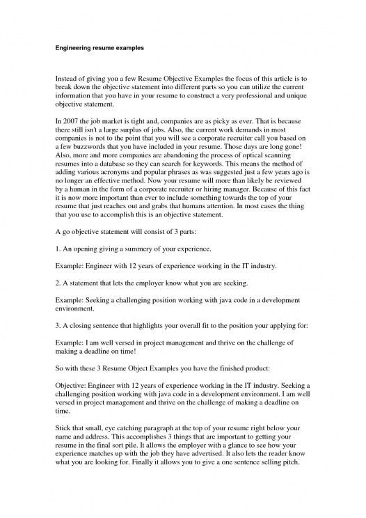 opening resume statement examples sample it resume objectives 8