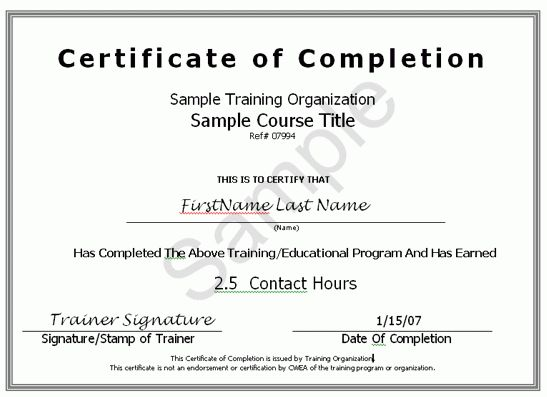 Sample certificate of attendance template passionative sample certificate of attendance template yadclub Image collections