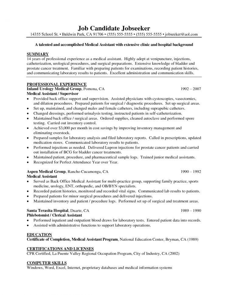 Medical Support Assistant Training Top 8 Medical Support - medical support assistant resume