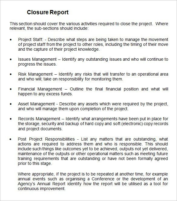Project Summary Report Example Sample Project Summary Template 8 - sample project report