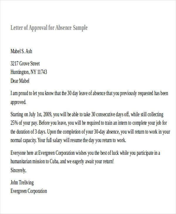 Request For Leave Sample Letter Of Leave, Letter Of Leave Of - formal request letter