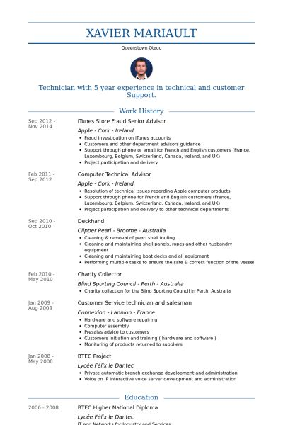 apple resume example examples of resumes - Deckhand Resume Templates