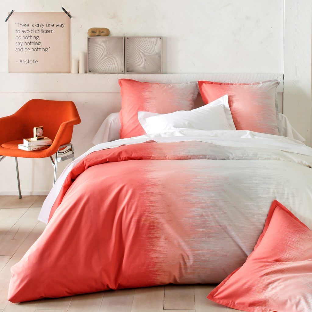 tie and dye rouge rose chambre drap - blog déco - clem around the corner
