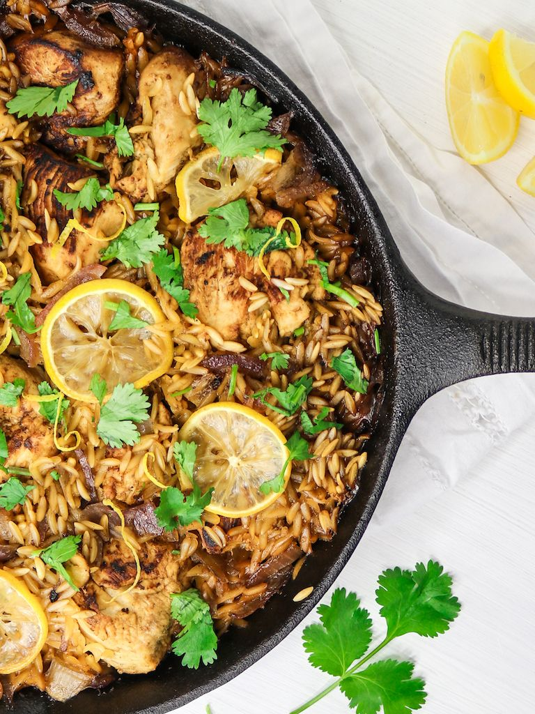 (One-Pot) Tuscan Lemon Chicken & Orzo - A Bright Moment