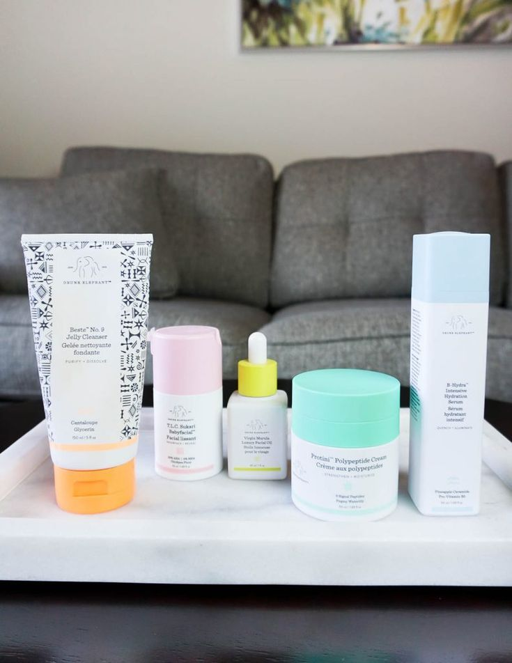 night time skincare routine with clean beauty products from drunk elephant | Texas Beauty Blogger Lady in Violet #skincaretips #nighttimebeautyroutine #beautyproducts