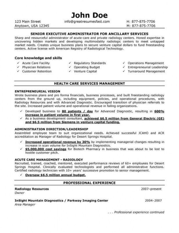 Radiologic Technologist Resume Examples - Examples of Resumes